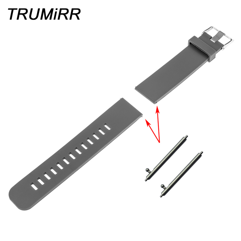 Rubber Watchband + Quick Release Pins for Omega Men Women Watch Band Silicone Strap Bracelet Black Blue Grey Red 18mm 20mm 22mm silicone rubber watch band 18mm 20mm 22mm for casio bem 302 307 501 506 517 ef mtp series quick release strap loop belt bracelet