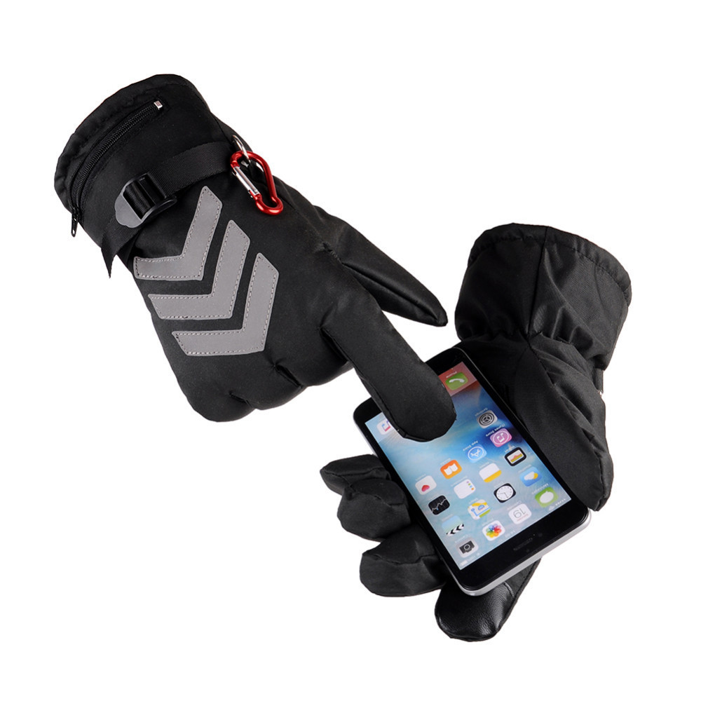 Rechargeable Heated Gloves Waterproof Insulated Night Reflective Back Touch Screen Motorcycle Electrocar Heating Gloves Warmer windproof 5 fingers heated skiing gloves waterproof cycling rechargeable gloves electric heating gloves