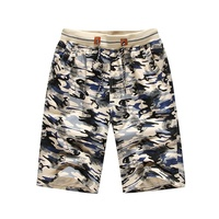 Uwback 2017 Summer Men Beach Shorts Printed Camouflage Cotton Men Board Shorts Plus Size 3XL Loose