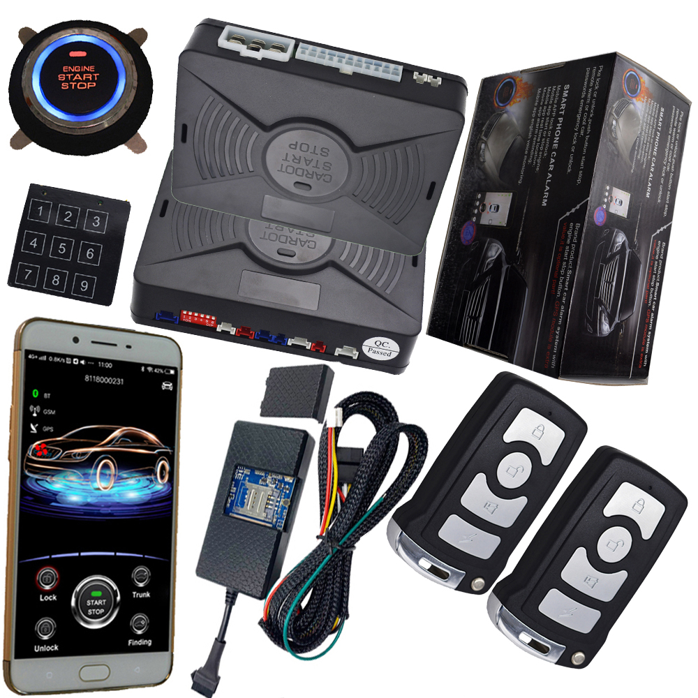 Pke Car Alarm System With Keyless Go Engine Start Stop