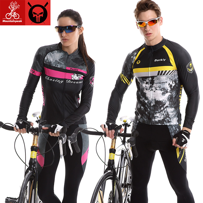ФОТО  Mountainpeak Long Sleeve cycling set spring/summer 2017 new suits for men and women bicycle clothing pants trousers sunscreen