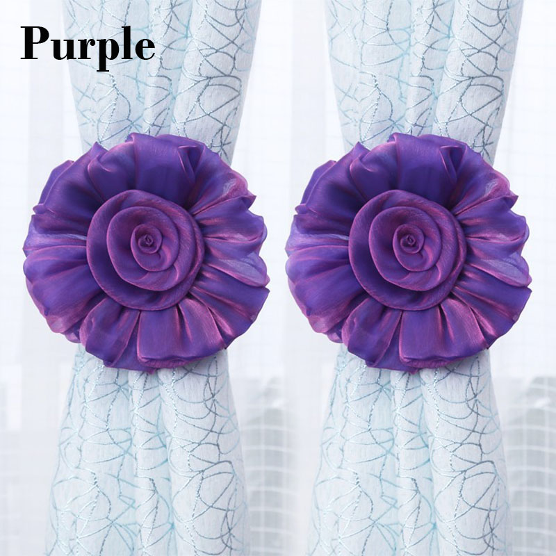Bunga romantis yang indah tirai tieback, Elegan dan fashion tirai - Dekorasi rumah - Foto 3