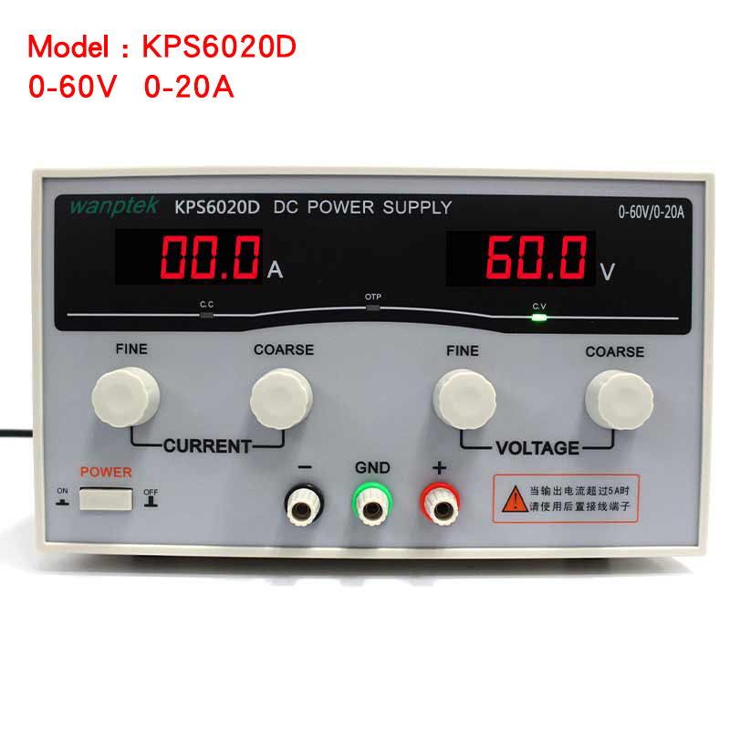 High quality Wanptek KPS6020D High precision Adjustable Display DC power supply 0-60V 0-20A High Power Switching power supply 1200w wanptek kps3040d high precision adjustable display dc power supply 0 30v 0 40a high power switching power supply