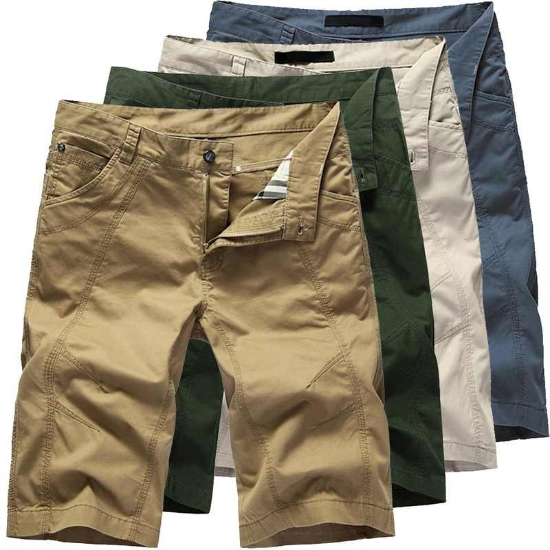 Litthing Più Il Formato Estate Shorts Uomini Casual Solido Mens Bodybuilding Shorts Militare di Modo Elastico In Vita Beach Cargo Shorts