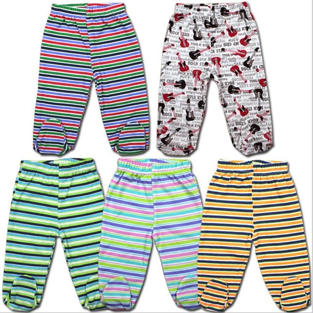 35c26ea4b37e5 5pcs per Lot 100% cotton baby Pants Baby boy Pants Newborn Body Baby footed  pants Baby Trousers boy Printed Pants