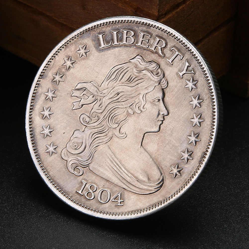Buitenlandse Handel Fijne Zilveren Legering Verwerking Aangepaste Metalen Munten Art Unieke Liberty Zilver Goud Metalen Muntenverzameling