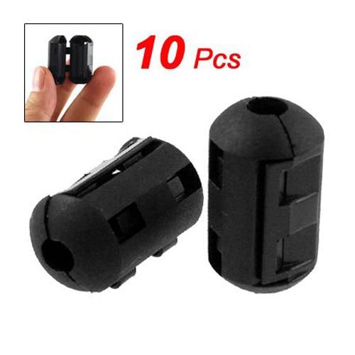 Sale Wholesale UK 10 Pcs Movable Offset 5mm Inner Diameter Black Ferrite Core Ring