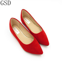 Red Gray Black Gre fashion Women's shoes comfortable flat shoes New arrival flats -TS603-2- Flats shoes large size Women shoes