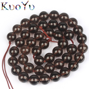Natural Stone Smoky Quartzs Beads Round Loose Beads For Jewelry Making 15.5inch/strand 4 6 8 10 mm DIY Bracelet Necklace(China)