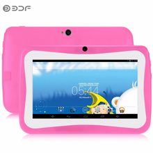 Tablet PC para niños de 7 pulgadas educación Android 4,4 con funda de goma Quad core bonito diseño aprendizaje entretenimiento tablet Pc(China)