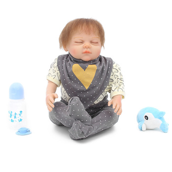 "Reborn baby boy silicone dolls 20""50cm soft touch cloth body newborn alive doll for child gift bebes reborn menino"