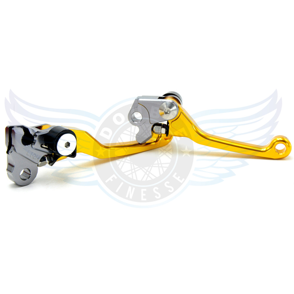 ФОТО golden color motorcycle accessories Pivot Brake Clutch Levers cnc brake lever For Kawasaki KLX125 D.TRACKER 125   2010 2011 2012