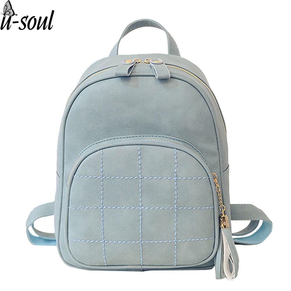 plain fashion style backpack 11