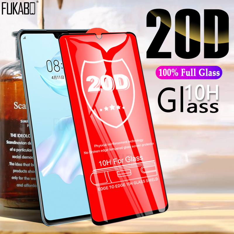 20D Full Cover Tempered Glass For Huawei P30 P20 Lite Mate 30 10 Pro P Smart 2019 Screen Protector Glass For Huawei Nova 2i Film