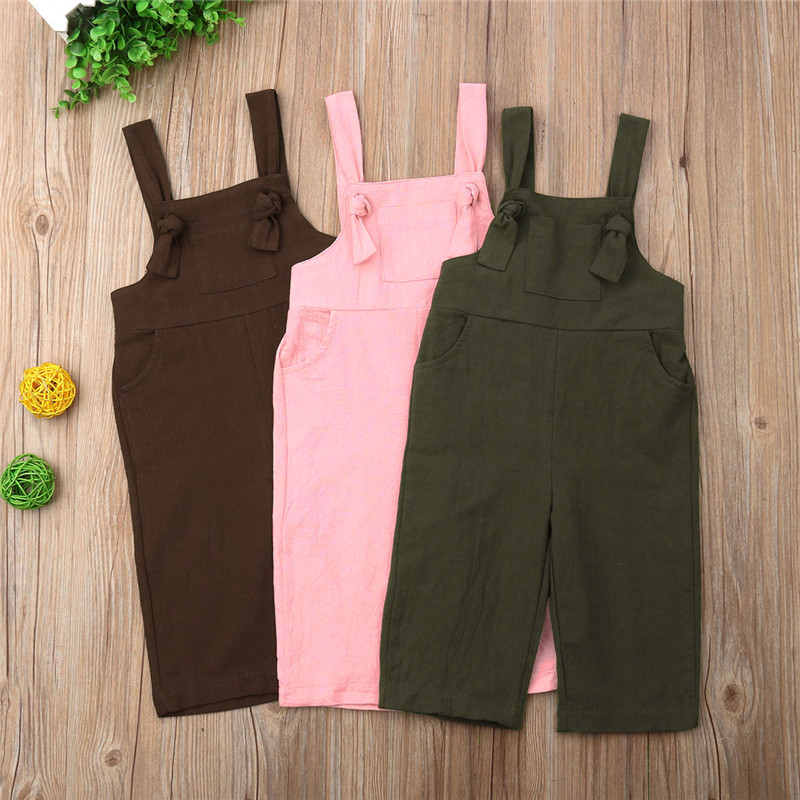 2019 New Toddler Kids Girl Linen Overalls Jumpsuit Playsuit Vintage Dungaree Overalls Outfits Clothes 1 to 6Y2019 New Toddler Kids Girl Linen Overalls Jumpsuit Playsuit Vintage Dungaree Overalls Outfits Clothes 1 to 6Y
