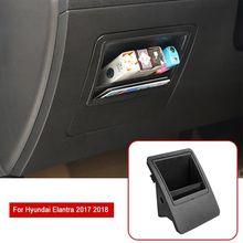 Внутренняя Автомобильная левая коробка для хранения ручка Накладка ABS подходит для hyundai Elantra- накладки для салона