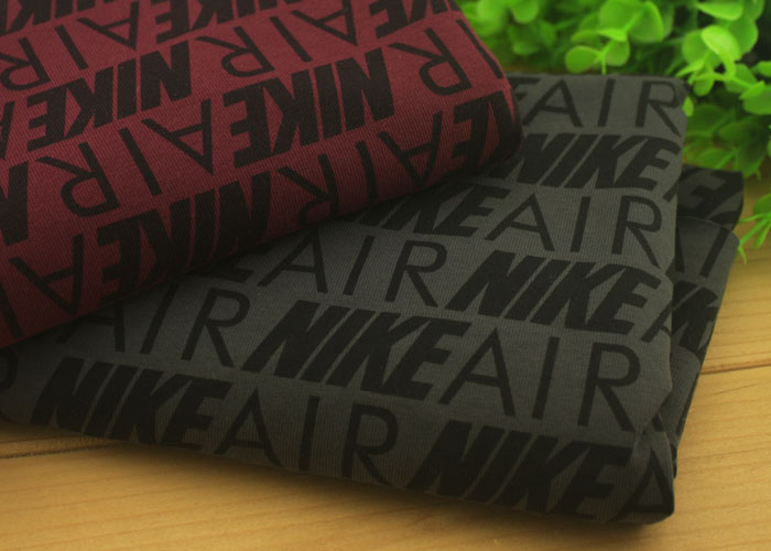 High quality! 50 *156CM Letters printed stretchy cotton thin knitted fabric for T shirt dress skirt leggings