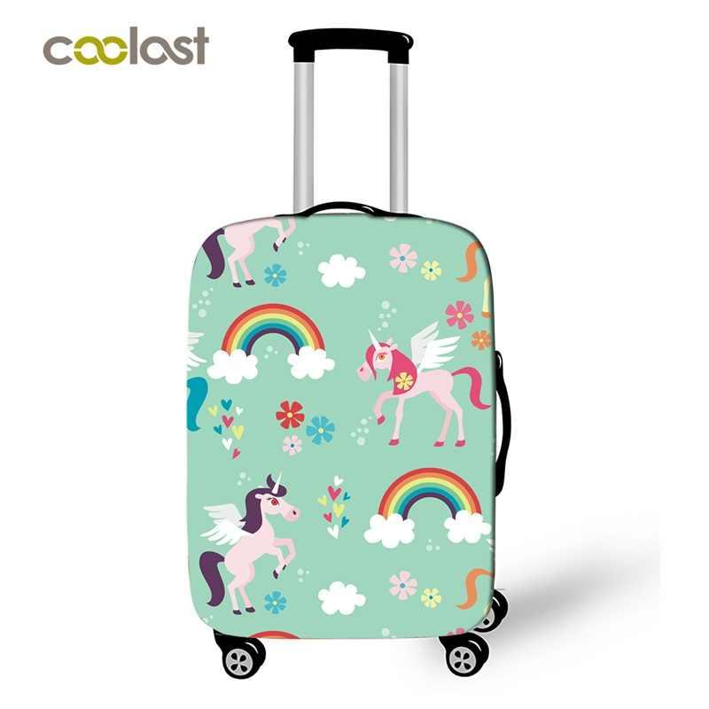 Мультяшный Единорог багажный чехол для девочек розовый чемодан защитные чехлы эластичный Дорожный Чехол valise 50 см аксессуары для путешествий