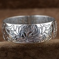 Thousands Of Fine Silver Heart Sutra Bracelets If Fine Silver Thai Silver Antique Retro Wave Paramita
