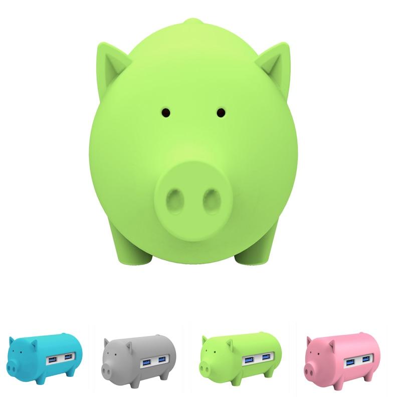 ORICO Cute Pig HUB Multi function USB3 0 OTG Hub 3 USB Ports and TF SD