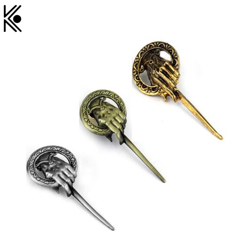 New Arrival Hot Selling Game of thrones brooch song of ice and fire Hand Of The King High quality Brooch badge Souvenir gifts ...