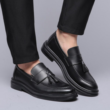 DXKZMCM 2019 Men Dress Shoes Formal Wedding Leather Shoes Business Casual Office Men's Flats Oxfords