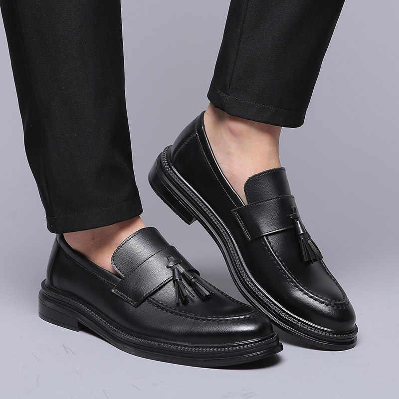 DXKZMCM 2019 Men Dress รองเท้ารองเท้างานแต่งงานอย่างเป็นทางการรองเท้าหนังธุรกิจลำลองผู้ชาย Oxfords