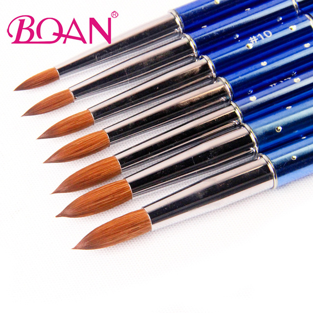 BQAN 1pcs #6#8#10#12#14#16#18 Kolinsky Sable Brush Acrylic Nail Art ...