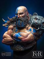 1/9 Resin bust model kit Barbarian warrior Unpainted and unassembled XX132D