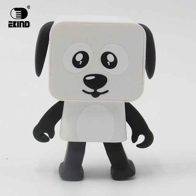 EKIND MINI Toy Dog Speaker Bluetooth Dancing Dog Speakers Small Square Puppy Toy gift for the Children