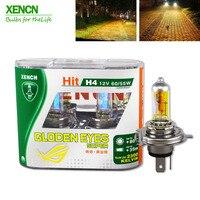 XENCN H4 12 В 60/55 Вт P43t 2300 К золотые глаза супер желтый более яркий свет галогенных ламп автомобиля фары Бесплатная доставка 2 шт.