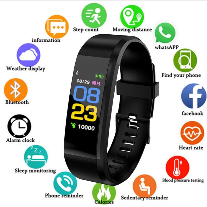 New 2019 Smart Bracelet Sport Watch Men Women Heart Rate Monitor Blood Pressure Fitness Tracker Kids Smartwatch For IOS Android