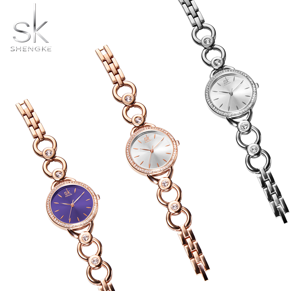 Shengke Luxury Women Watch Famous Brands Gold Fashion Creative Bracelet Watches Ladies Women Wrist Watches Relogio Femininos SK 3