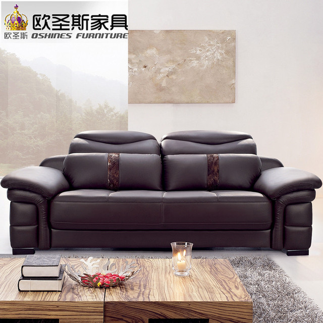 2017 New Design Italy Modern Leather Sofa Soft Comfortable Livingroom Genuine Real