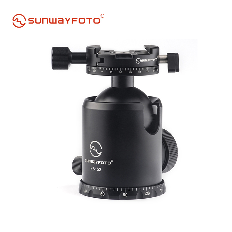 SUNWAYFOTO FB-52DDHi Tripod Ball Head with free quick release plate for DSLR Camera Ballhead Panoramic Tripod Head benro bh serie ball head bh0 ball head universal tripod head with ph 08 quick release plate max loading 4kg dhl free shipping