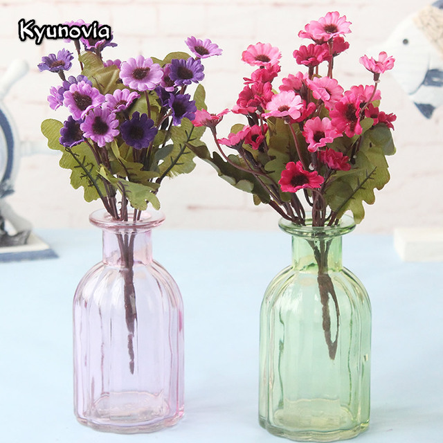 Kyunovia Beautiful 1 Bunch Artificial Fake Bridal Daisy Flower Bouquet Wedding Party Home Hotel Room Decoration