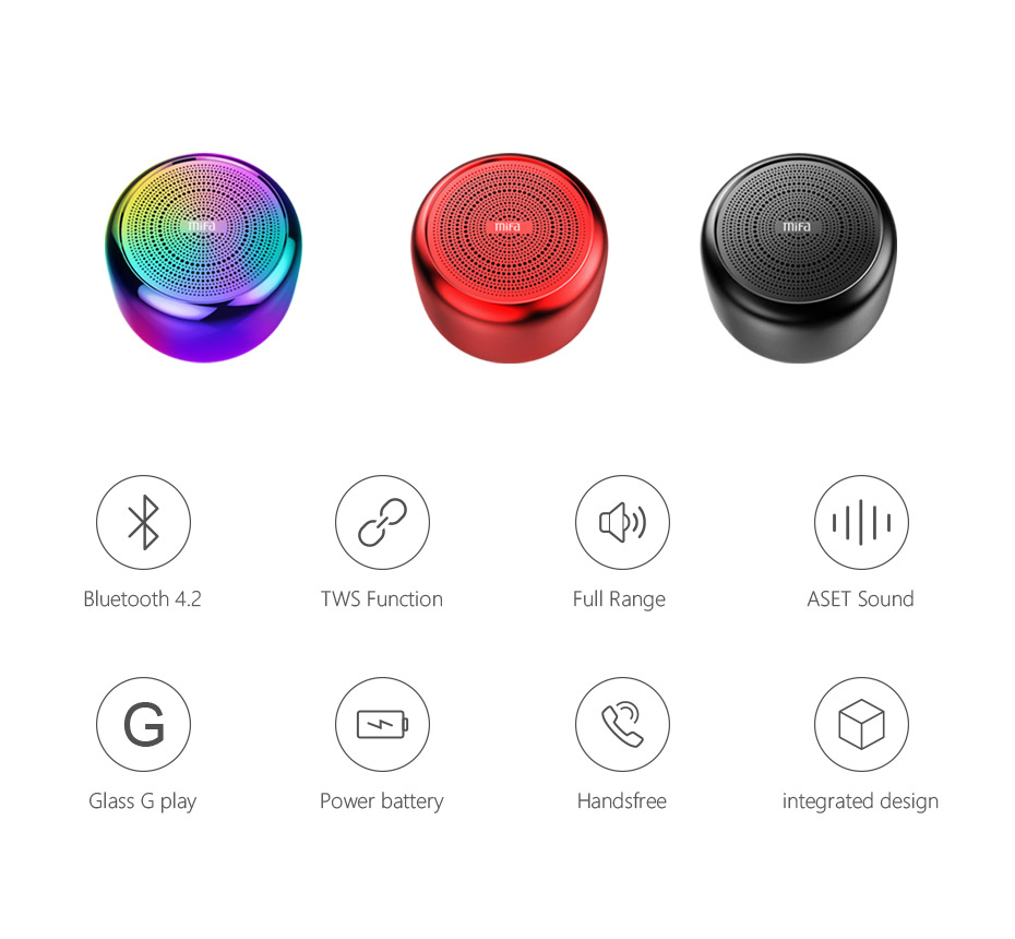 Mifa i8 Portable Bluetooth Speaker Built-inMicrophone Aluminium Alloy Body Mini Speaker Wireless Bluetooth 4.2 Mp3 Music Player
