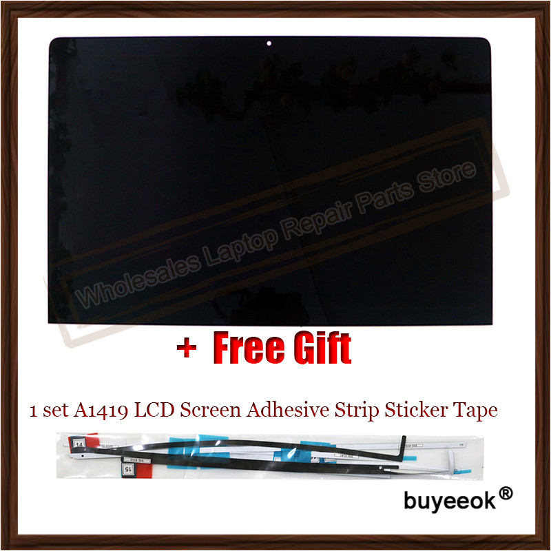 Original A1419 2K LCD Screen Display with Front Glass Assembly For iMac 27