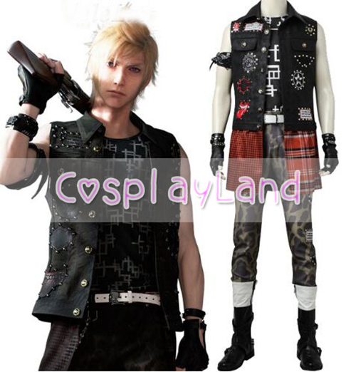 Final Fantasy Prompto Argentum Cosplay Costume Adult Cosplay Carnival Halloween Costumes Game Prompto Costume Outfit Custom made