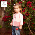 DB4374 dave bella  spring baby girl vest knitted cardigan vest girl waistcoat