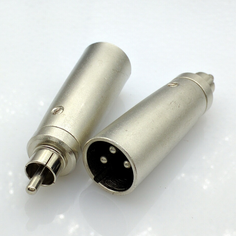 3pin xlr connector adapter xlr male to rca male connector xlr to rca connector in connectors. Black Bedroom Furniture Sets. Home Design Ideas