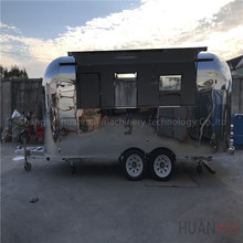 Huanmai 2018 New Type Stainless Steel Mobile Food Carts Catering Food Trucks Concession Trailers 5.3M
