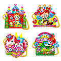1 Pcs Colorido Brinquedo de Montagem Bolsa de Ombro Saco Dos Desenhos Animados de EVA DIY Hand-sewn Diamante Brinquedos Educativos para As Meninas Aleatória padrão