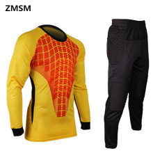 ZMSM Soccer Goalkeeper clothing training football Sets Thicker sponge Pad Long-sleeved football Goalkeeper sets Can be printed