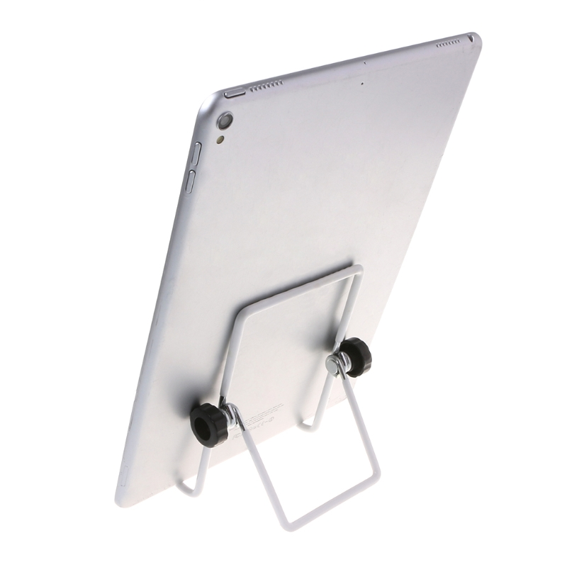 Universal Holder 360° Adjustable Foldable Metal Wire Stand Mount For iPad Tablet