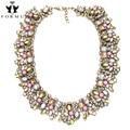 Accesorios de Perlas de Cristal Collares Collar de Las Mujeres de Lujo de alta Calidad Con Incrustaciones de Aleación Gargantillas Vintage Collar Llamativo NK972
