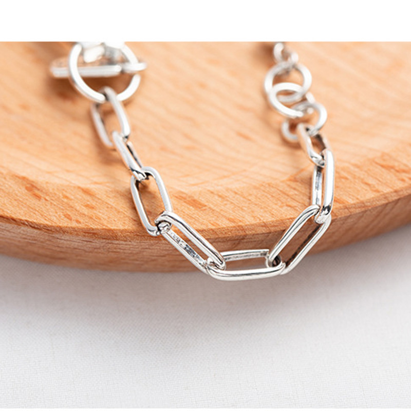 925sterling silver Bracelets Curb Cuban Link Chain with Lobster bar Bracelets For Men Women Wholesale Jewelry Gift drop free in Bracelets Bangles from Jewelry Accessories