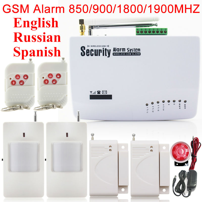 New Wireless/wired GSM Voice Home Security Burglar  Alarm System Auto Dialing Dialer SMS Call Remote control setting new wireless wired gsm voice home security burglar android ios alarm system auto dialing dialer sms call remote control setting