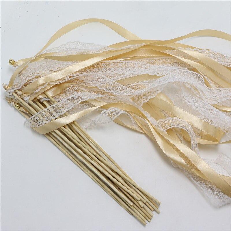 20pcs/lot Multicolour Magic Ribbon Wand Fairy fairy Sticks with ...