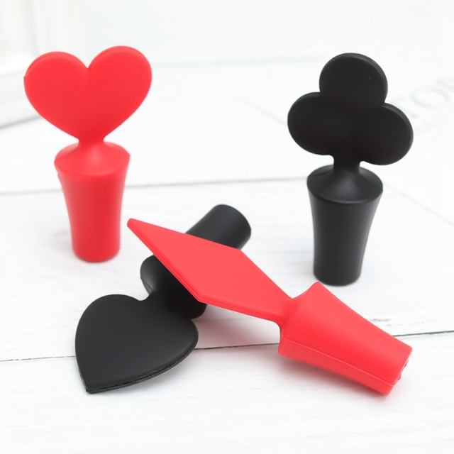 Poker Style Silicone Bottle Stopper